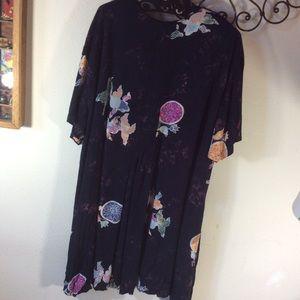Vintage Dresses - Tye Dye Pond Fish flowy Bohemian Dress